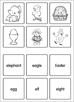 Flashcards for teaching the English alphabet