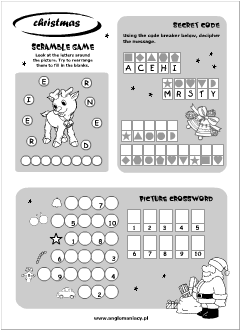 christmas worksheets for esl kids