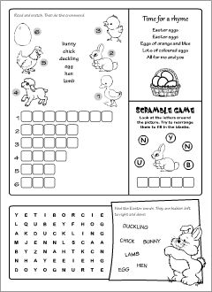 Easter worksheets for ESL kids
