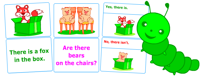There is, there are | Grammar flashcards for kids learning