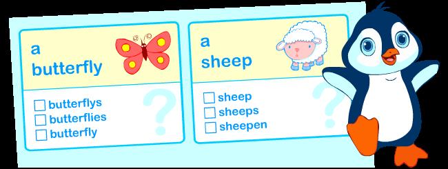 Singular vs. plural nouns | Grammar worksheets for kids learning English