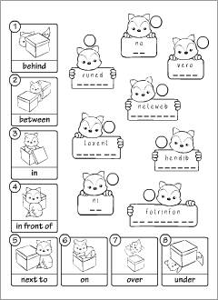 English Prepositions Cut Activities Grammar Printables For Kids