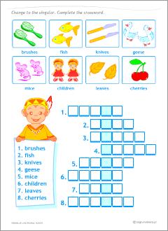 Singular Vs Plural Nouns Set Of Printables For Kids Learning