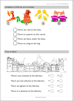 There is, there are | Grammar worksheets for kids learning English