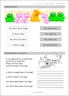 there is there are grammar worksheets for kids learning english