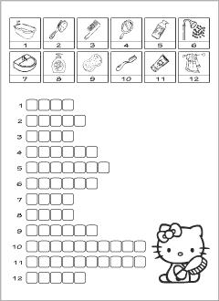Crosswords for teaching English to kids