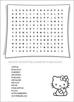 Wordsearches for teaching English