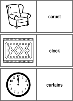 Living Room Vocabulary For Kids Learning English Printable Resources