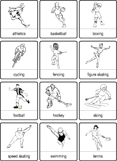 Sport vocabulary for kids learning English
