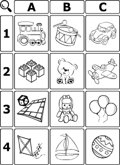 picture about Esl Games for Adults Printable referred to as Toys vocabulary for small children discovering English Printable materials