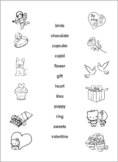 valentine 39 s day vocabulary for kids learning english printable resources. Black Bedroom Furniture Sets. Home Design Ideas