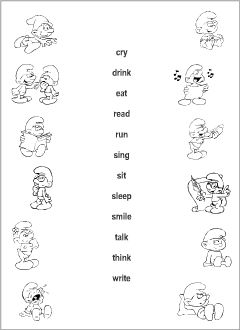 Verbs vocabulary for kids learning English | Printable resources