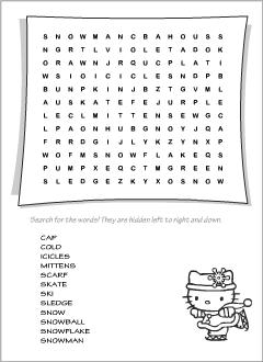 photograph about Winter Word Search Printable named Wordsearch puzzles Printables for ESL lecturers and youngsters